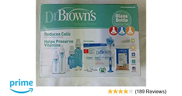Dr. Browns Glass Baby Bottle Gift Set