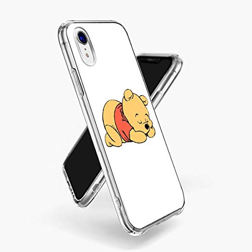 DISNEY COLLECTION Clear Case UV Print Cover Case for iPhone Xr [6.1-Inch] Adorable Baby Cute Pooh Bear Red Sleep White Winnie The Yellow Popular