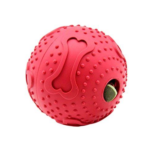 YOUJIA Snackball für Hunde und Welpen - Interaktives Hundespielzeug - Snack Ball für Zahnreinigung (7.6CM)