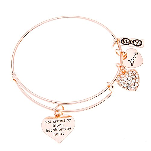 Infinity Collection Best Friends Bracelet- Not Sisters by Blood But Sisters by Heart Bracelet, Best Friend Jewelry by Infinity Collection
