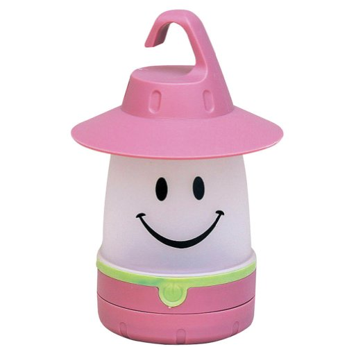 Smile LED Lantern: Portable Night Light Camping Lantern For Kids (Peach)