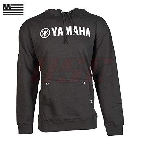 Yamaha Racing Team ATV Official Licensed Black Hoodie Pullover Fan Apparel Large ()
