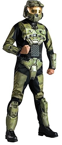 Halo 3 Deluxe Master Chief Costume With Helmet, Standard/One Size - Halo 4 Master Chief Costumes