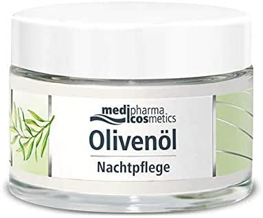 Medipharma Cosmetics Night Care Cream - Infused with Cold Pressed Olive Oil and Ceramides - Daily Use Cream for Face, Neck & Cleavage - Ideal for Dry to Very Dry Skin - 50 ml