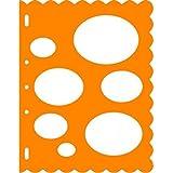 Fiskars 8.5x11 Inch Sheet Ovals Shape Template