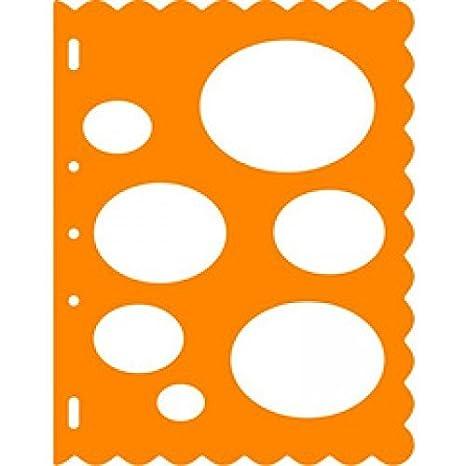 Fiskars Round Circles Large Card Making Stencil Template Shapecutter Craft SALE