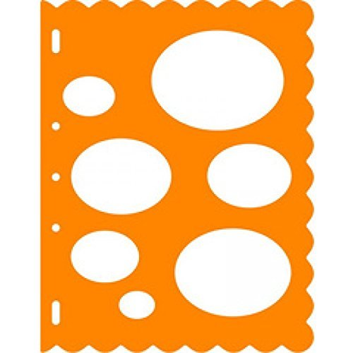 Fiskars 8.5x11 Inch Sheet Ovals Shape Template (Elliptical Template)