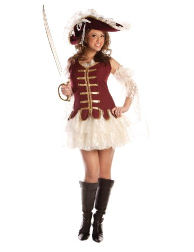 Treasure Hunters Costume (Underwraps Women's Treasure Hunter Costume Large White and Red)