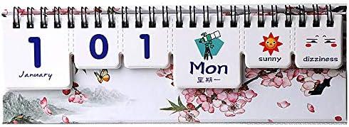 H-OUO Kalender, 2020 Desk-Kalender Stand Up-Schreibtisch-Tabellen einfache nette Kalender Zeitplan Agenda Dekoration Täglich Monatlich Planer Briefpapier-Schule Büro ,Für Geschenk ( Color : Style E )