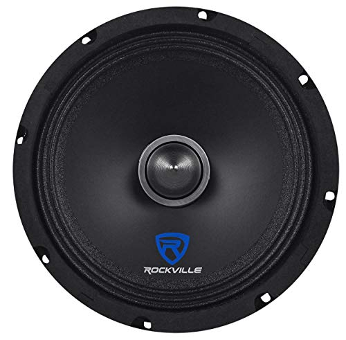 "Rockville RXM88 8"" 250w 8 Ohm Mid-Bass Driver Car Speaker Made w/Kevlar Cone"