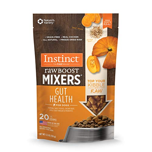 Instinct Freeze Dried Raw Boost Mixers Gut Health Grain Free All Natural Dog Food Topper by Nature's Variety, 5.5 oz. Bag