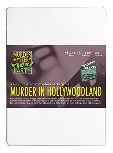 Murder Mystery Flexi Party Murder in Hollywoodland 4-12 (Clue Game Characters Costumes)