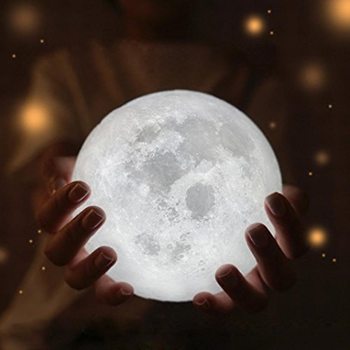 Price comparison product image Dressffe 3D USB LED Magical Moon Night Light Table Desk Moon Lamp Gift (B)