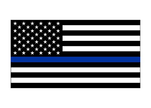 Thin Blue Line Blue Lives Matter Flag Sticker Vinyl Decal for Car Truck Window Bumper Sticker Support of Police and Law Enforcement Officers (3x5)