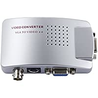 SmoTecQ Video Converter VGA To BNC (PC To TV), High Resolution Video HD VGA Conversion