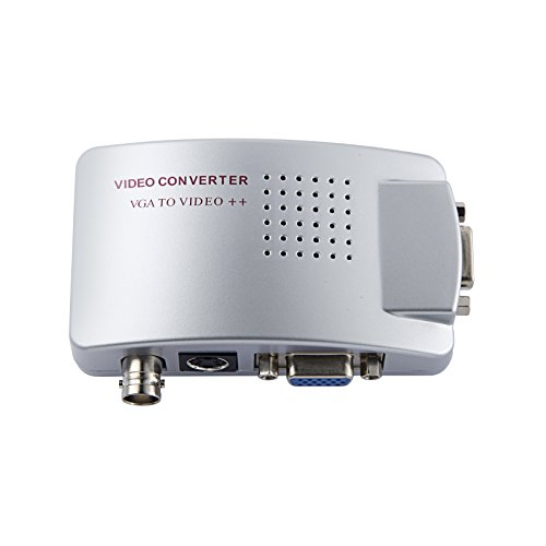 SmoTecQ Video Converter VGA To BNC (PC To TV), High Resolution Video HD VGA - Bnc Vga