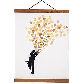 Magnetic Photo Frame, Natural Wooden Frame Picture Poster Artwork Canvas Hanger For Home Decoration Wall Hanger Teak Wood (Size: 11.81inch)