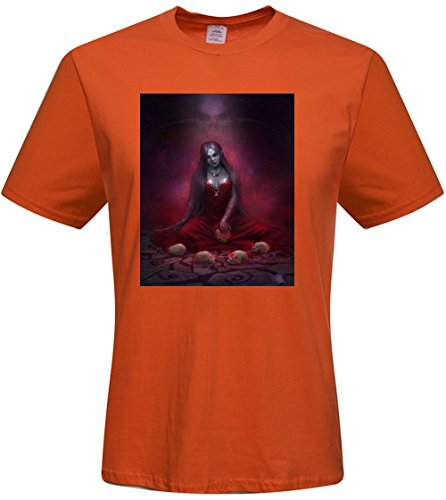 Custom Red Blood Wings Skull Mens T-shrits,DIY MENS Cotton Crew Neck T-Shirt