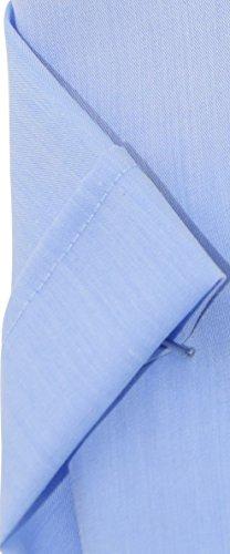 Seidensticker Herren Hemd tailored hellblaues Hemd Patch3 Kent halbarm ohne Tasche Kollektion Size 39