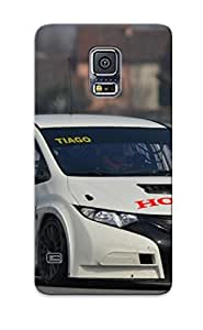 Markrebhood Perfect Tpu Case For Galaxy S5/ Anti-scratch Protector Case (2013 Honda Civic Wtcc Race Racing )