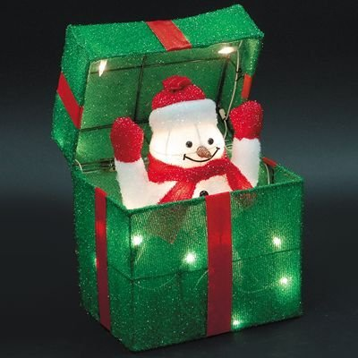 Outdoor Lighted Potted Christmas Trees - 8