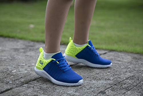 Pictures of Kids Athletic Tennis Shoes - Little Kid Sneakers with Girl and Boy Sizes Blue/Green Size 1 Little Kid (Azul/Verde - 32) 1 M US 2
