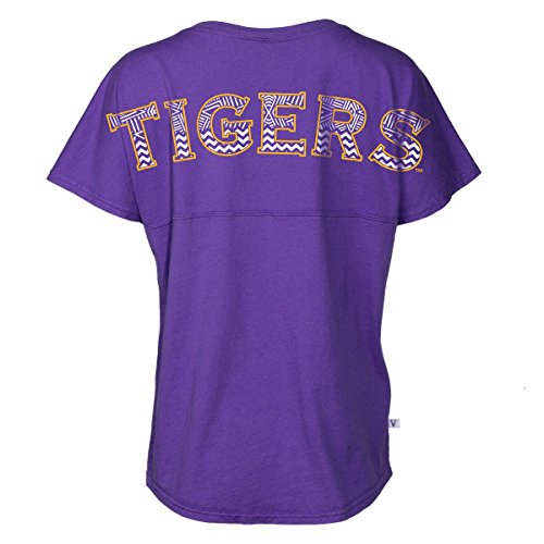 Louisiana State University Jersey - Official NCAA Louisiana State University Tigers LSU GEAUX Tiger Mike Short Sleeve Spirit Wear Jersey T-Shirt
