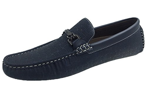 Andrew Fezza AF-1971 FBM Jac Mens Stylish Loafer Driver Shoes Navy k3YBCx