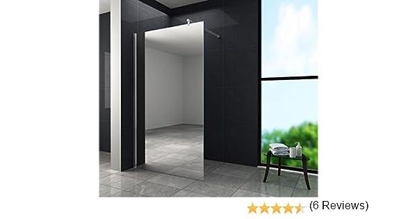 10 mm cristal de espejo Aquos FX-Mirror – Mampara de ducha 100 x ...