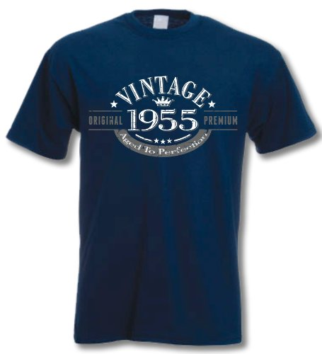 1955 Vintage Year, Aged to Perfection - 61st Birthday Gift Present T-Shirt Mens