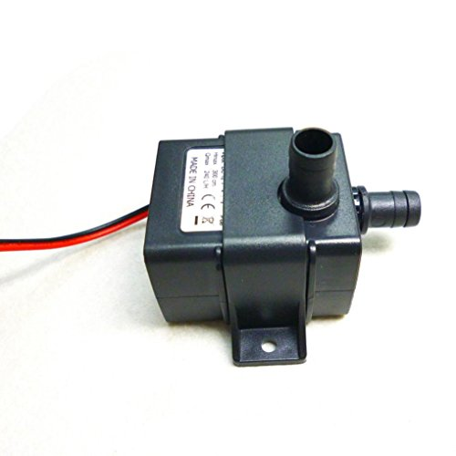 - Kacowpper Mini DC12V 3M 240L/H Ultra-quiet Motor Pump Black Submersible Pool Water Circulating Pump Solar