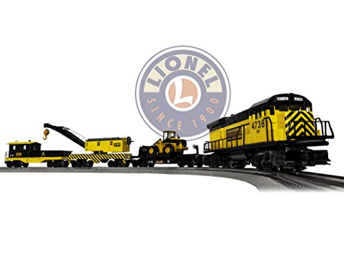 Lionel Construction Railroad Electric O Gauge Model Train Set w/ Remote and Bluetooth Capability from Lionel