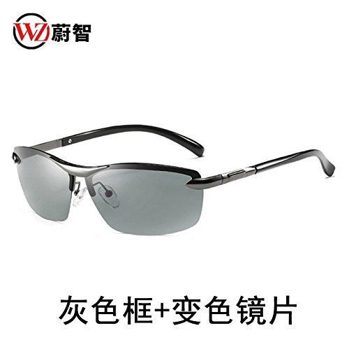de gris Gafas noche KOMNY y de sol de azulada Gafas Frame conducción pesca conducción Discoloration conductores cómoda de Día marco masculinos hombres Moda decoloración gafas Grey xU1UqXF
