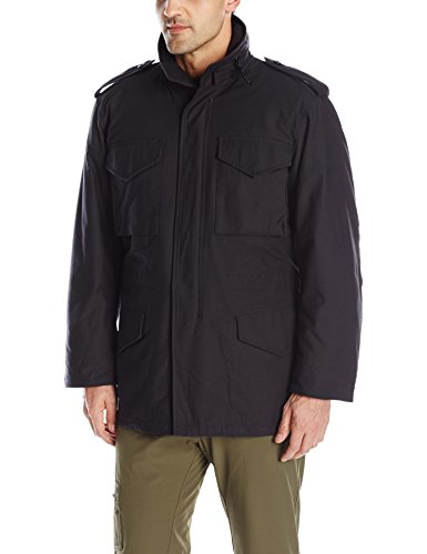 (Propper Men's M65 Field Coat, Black, Large Long)