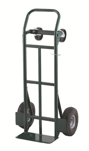 Harper Trucks 700 lb Capacity Super-Steel Convertible Hand Truck, Dual Purpose 2 Wheel Dolly and 4 Wheel Cart with 10'' Pneumatic Wheels by Harper Trucks