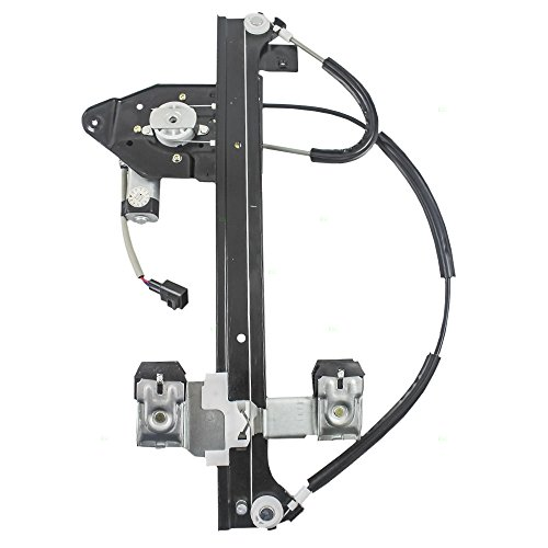 Drivers Rear Power Window Lift Regulator with Motor Assembly Replacement for GMC Buick Chevrolet SUV 15893782 (Window Trailblazer)