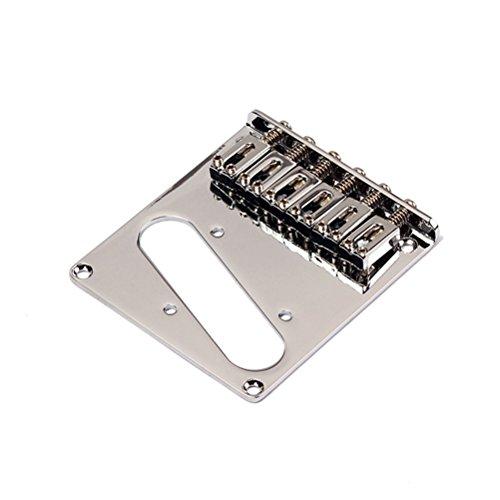WINOMO Chrome Telecaster Electric Guitar Saddle Bridge for Fender Tele Replacement by WINOMO
