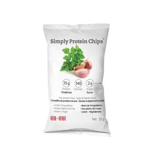 The Simply Bar Protein Chips - Herb - Case Of 12 - 33 Grams