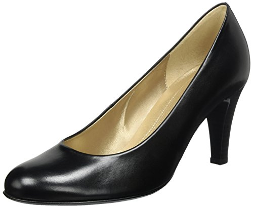 Gabor Women's, Lavender, Lavender L Black (Black Leather)