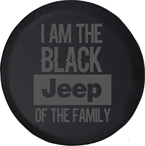Spare Tire Cover Black Jeep of The Family Fits Jeep Tire Cover or Jeep Wrangler or RV 32 Inch ()