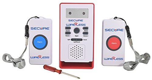 Secure Wireless Two Patient Call Button and Caregiver Pager Nurse Alert System - 500+ ft Range - Elderly, Disabled, Bedridden Help and Emergency Safety Aid
