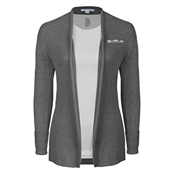 3147efaf4d7 Faith Baptist Bible Ladies Heather Grey Open Front Cardigan  Faith Eagles   - Small