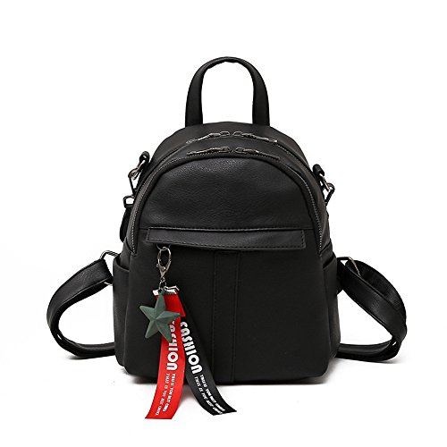 Meaeo Travel Bag Backpack Bag Student Backpack Fashion Small Gray Black