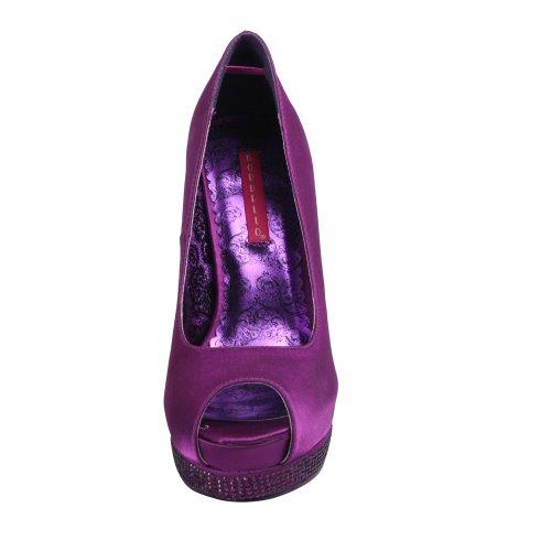 BordelloBELLA-12R - Zapatos con tacón Mujer - Purple Satin/Purple Satin
