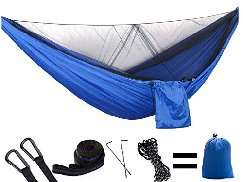 RRDF Camping Hammock with Mosquito Net – Lightweight Double Hammock, Portable Hammocks for Indoor,Outdoor, Hiking, Camping, Backpacking, Travel, Backyard, Beach