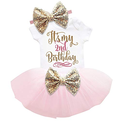 Baby Birthday Sets 6 Months 1 2 Years Toddler Bebes Outfit Infant Christening Suits for Baby Girl Gift Kids Summer Clothes,F -