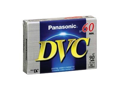 Panasonic AY-DVM60EJ 60-minute DVC (Mini DV) Tape (5-pack)