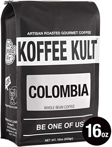 (Koffee Kult Coffee Beans Colombian Huila - Highest Quality - Whole Bean Coffee Beans - Fresh Roasted Roasted Colombian (16oz))