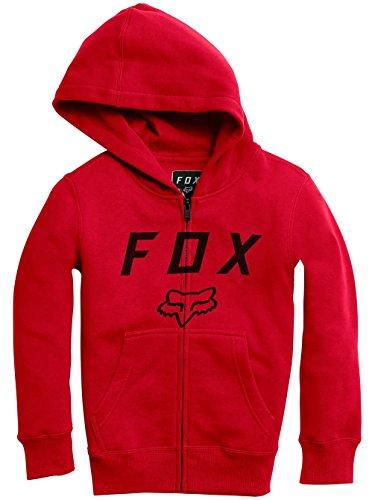 Fox Racing Pojkar Äldre Moth Zip Fleece Hoody Zip Tröjor Flamma Röd