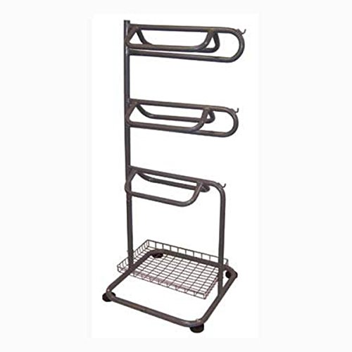Backyard Expressions 909094 3-Tier Saddle Rack with Acces...